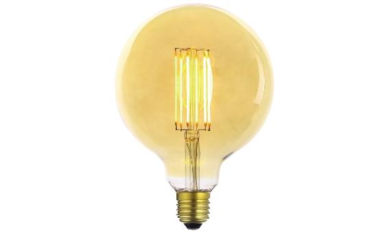 Lampade Globo A Basso Consumo : Lampadina vintage led globo deco line gold e w luce calda